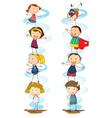 Cartoon Kids Activities vector image