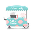 cotton candy street food cart color image vector image
