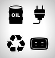 Energy icons vector image
