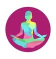 Lotus yoga pose icon abstract vector image