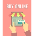 Online Shopping by Tablet vector image