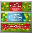Set of horizontal Merry Christmas banners vector image