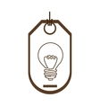 silhouette price tag of light bulb with resistance vector image