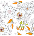 seam flow23sentSeamless background with flowers vector image vector image