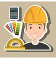 architect tool man work vector image