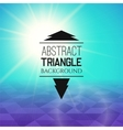 Abstract cyan sunset with purple triangle field vector image