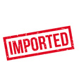 Imported rubber stamp vector image