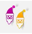 realistic design element Santa Claus vector image