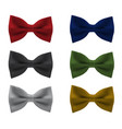 bowties realistic vector image