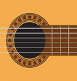guitar sound hole vector image