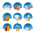 cooking icons fon vector image vector image