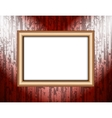 Blank frame on a colored wall lighting spotlights vector image