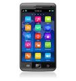 touchscreen smartphone vector image vector image
