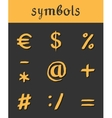 hand drawn Icons mathematical business vector image vector image
