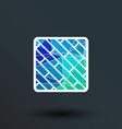 parquet icon button logo symbol concept vector image