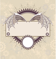 Banner with a Mechanical Dragon Wings vector image vector image