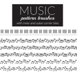 Musical pattern brushes vector image