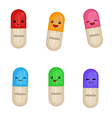Cartoon medical capsules vector image