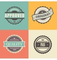 commercial stamps set in vintage style for vector image