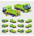 Cube World Empty green truck vector image