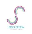 logo design letter S vector image
