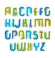 Multicolored handwritten uppercase letters doodle vector image