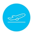 Plane taking off line icon vector image