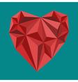 polygon heart sign vector image