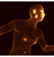 Running Man Graphics Composed of Particles vector image