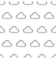 seamless pattern from white cloud on white vector image
