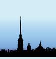 St petersburg landmark russia saint peter and vector image