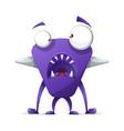 terrible cute monster - cartoon characters vector image