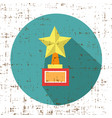 trophy star winner award retro grunge style icon vector image