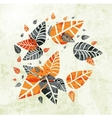 floral Autumn Leaves Background vector image vector image