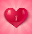 keyhole pink heart vector image