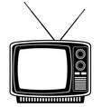tv old retro vintage icon stock vector image