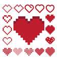 Red heart icon set vector image vector image