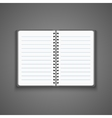 Realistic Blank Open Notebook vector image vector image