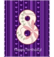 Happy birthday eight card vector image vector image