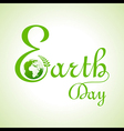 Creative happy earth day text and greeting vector image vector image