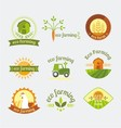 variety of farm logotypes vector image vector image