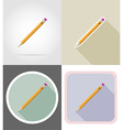 stationery flat icons 06 vector image vector image