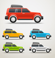 Different color cars vector image