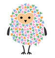 a cartoon owl stylized owl vector image