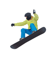 a young boy snowboarder vector image