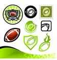 American Football Design Kit vector image