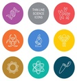 Biology science icons vector image