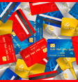 bright different credit cards financial seamless vector image