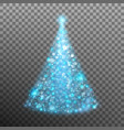 christmas tree from light and bokeh eps 10 vector image