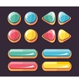 Color glossy buttons set for computer games vector image